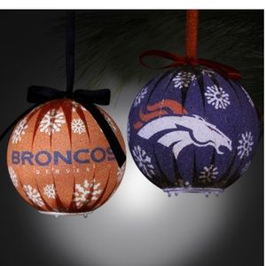 🎁New! Set of 6 NFL Denver Broncos Led Ornaments